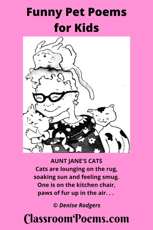 funny cat poem, funny pet poem.