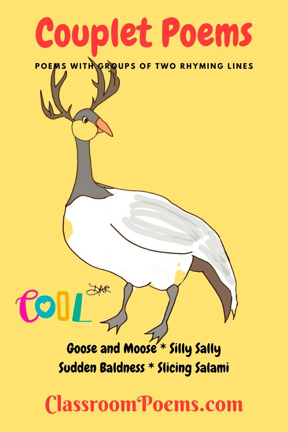 GOOSE AND MOOSE couplet poem by Denise Rodgers on ClassroomPoems.com.