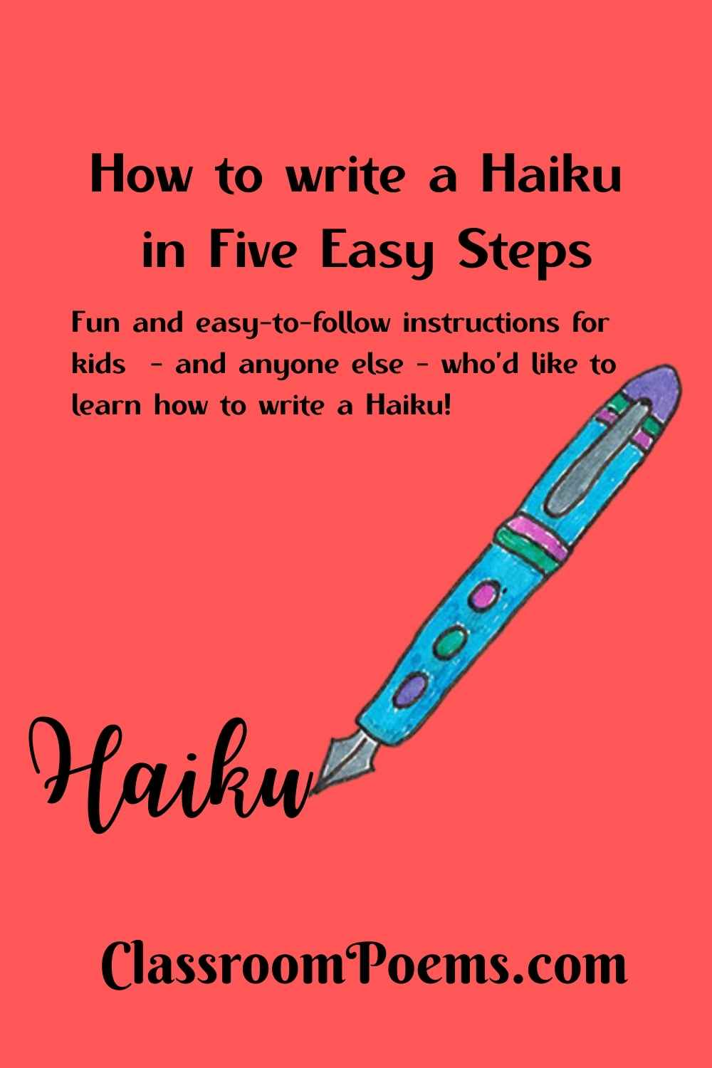 How to write a haiku by Poetry Lady Denise Rodgers on ClassroomPoems.com.