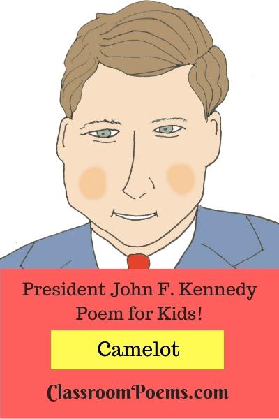 John F Kennedy drawing and poem. JFK drawing and cartoon. JFK poem.