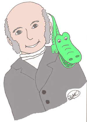 John Quincy Adams cartoon
