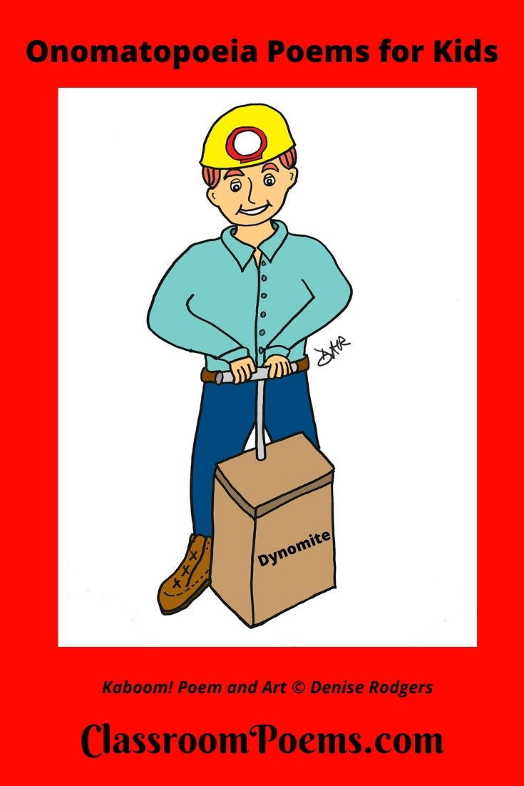 Miner with explosives drawing.
