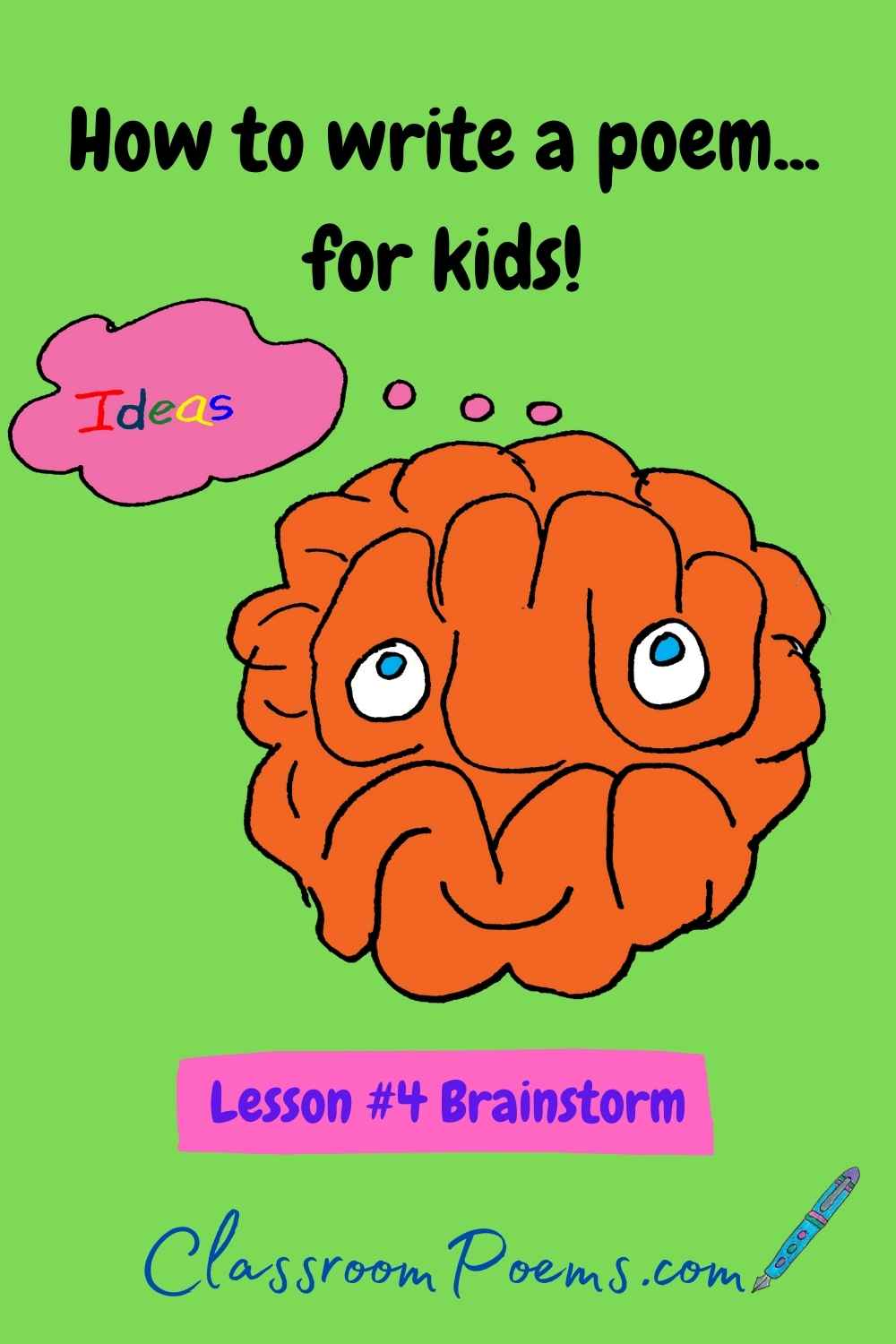 How to teach poetry to kids. Brainstorm.