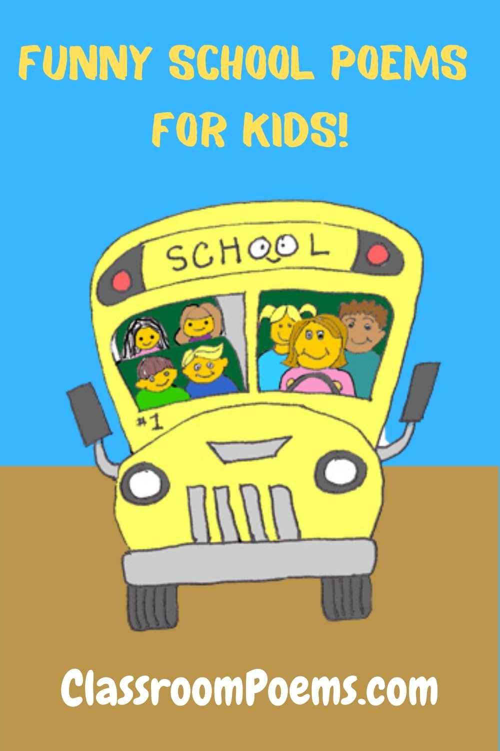 Funny school poems for kids by Denise Rodgers on ClassroomPoems.com.
