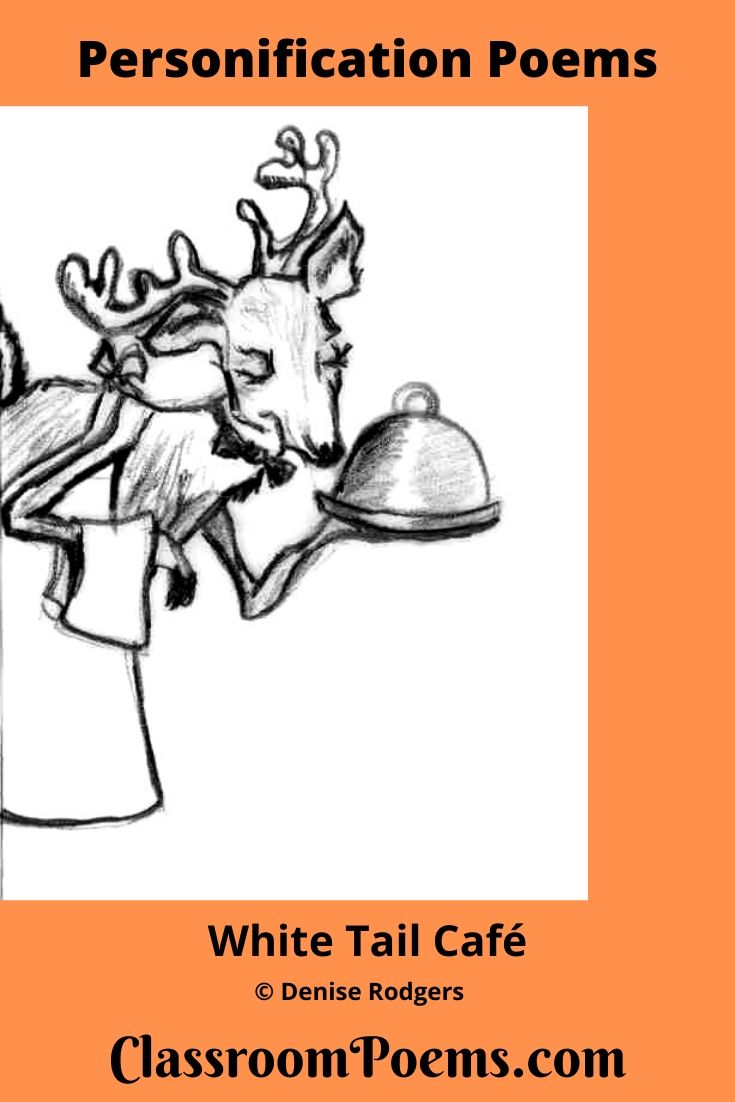 Deer serving food drawing /