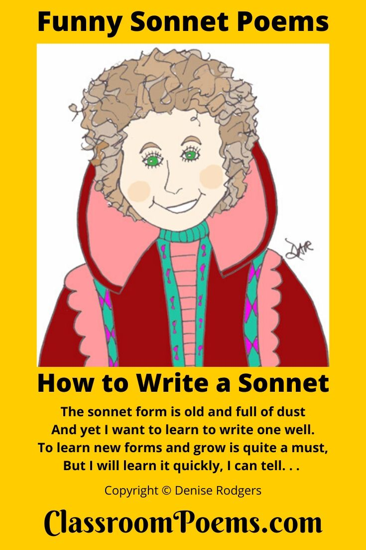 Sonnet poems for kids by Denise Rodgers  on ClassroomPoems.com.