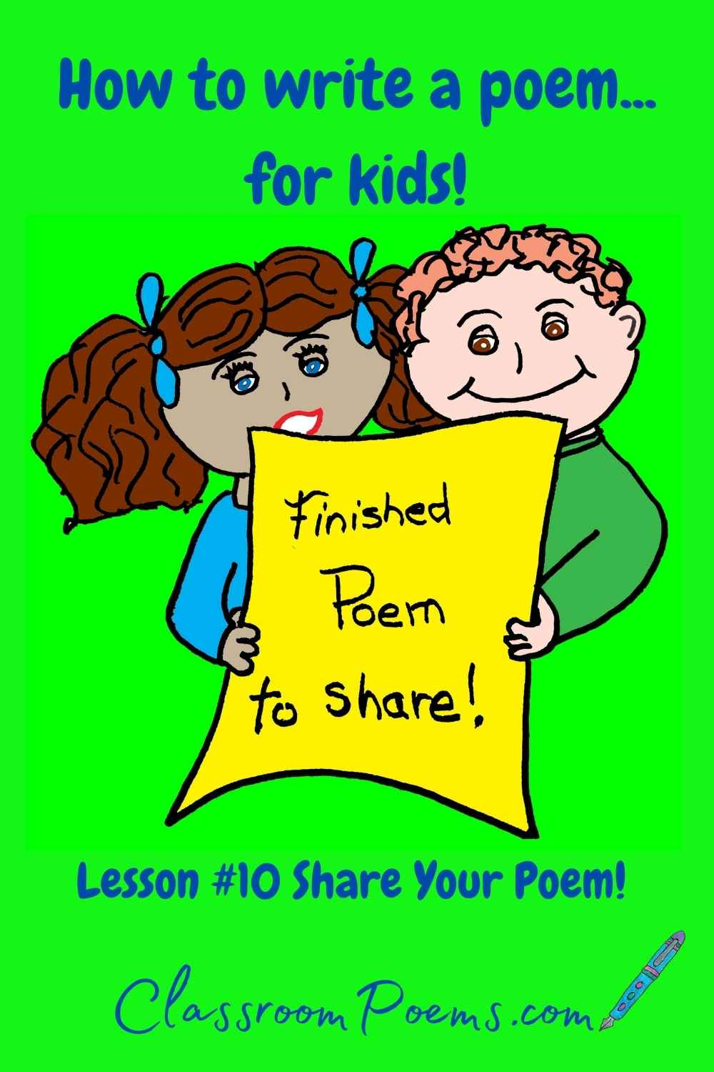 How to teach poetry to kids. Share your poem!