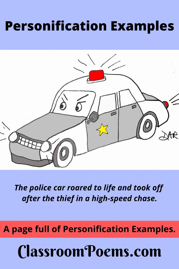 Angry police car drawing
