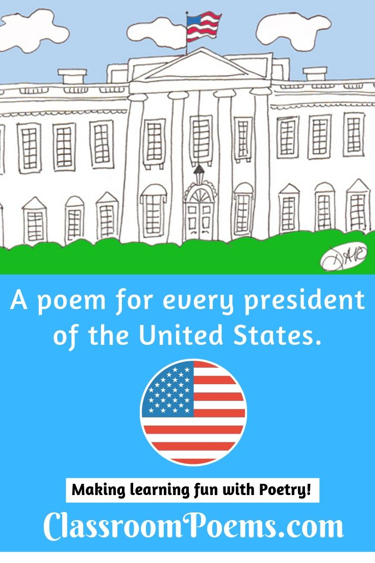 president poems, US president poems, white house drawing