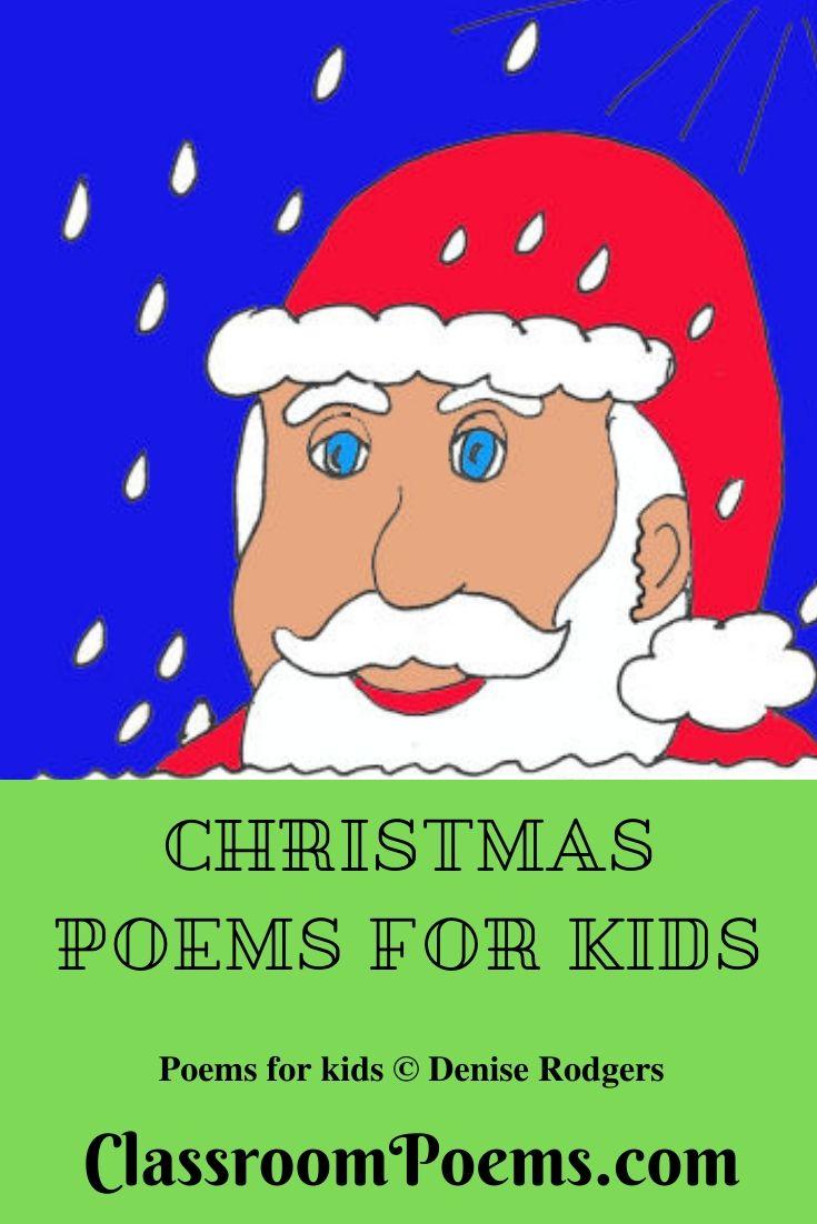 Santa drawing Christmas poems