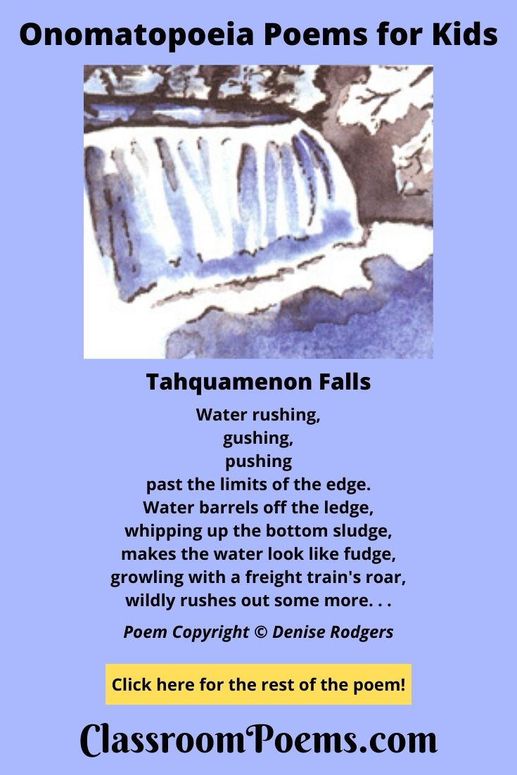 Tahquamenon Falls drawing by Denise Rodgers on ClassroomPoems.com.